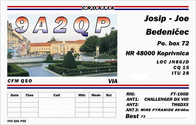 QSL Card or Station Photo of 9A2QP