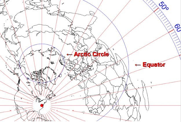 Buy Custom Azimuthal Equidistant (Great Circle) Maps